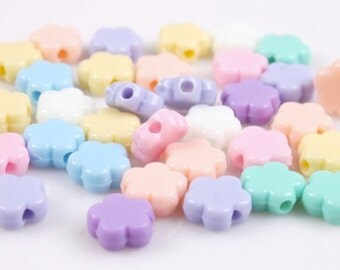Flowers pastel beads