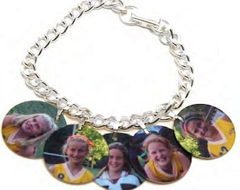 Custom Charm Bracelet Photo Charm Bracelet Dye Sublimation Charm Bracelet