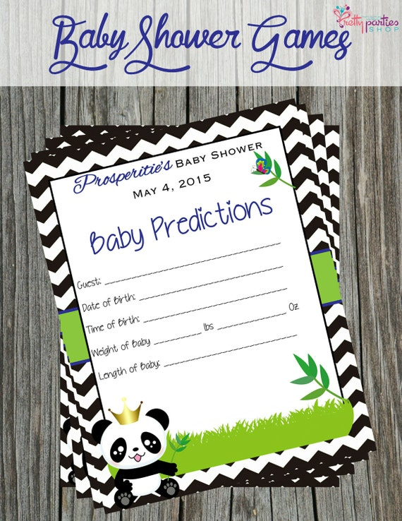 items similar to baby shower games panda prince on etsy