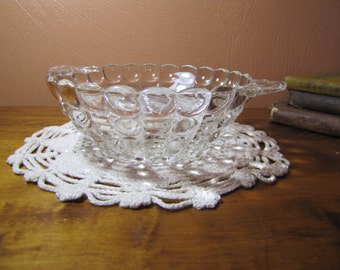 Vintage Clear Glass Dish
