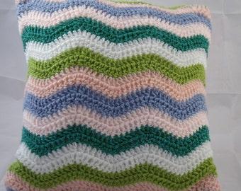 Crochet Ripple Cushion