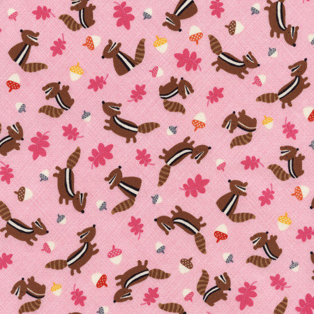 Woodland fabric childrens fabric chipmunks by timeless for Childrens cotton fabric by the yard