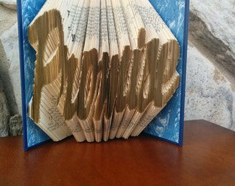 Promise -Folded Book Art - Fully Customizable, Custom avail