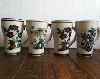 Vintage Floral Mug Set