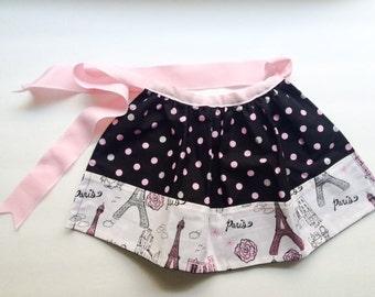 Pink Parisian Polka Dot Child's Apron