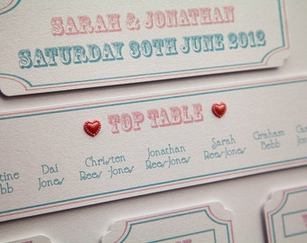 Carnival Style Table Plan A2 Pink & Blue