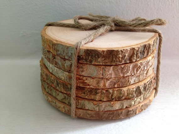 Rustic Tree Bark Coasters