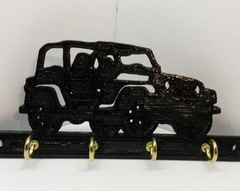 Jeep Key Rack Key Holder Key Hanger Key Hooks Organizer - For Jeep Lovers Four Key Hooks