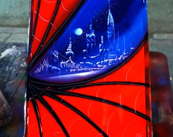 Amazing spiderman spray paint art
