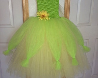 Tiana Princess And The Frog/Apple Green & Yellow Tutu Costume