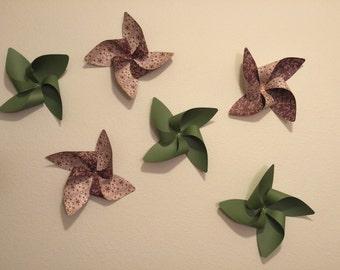 3D Wall Art.  Wall decals. Wall stickers. Pinwheels.