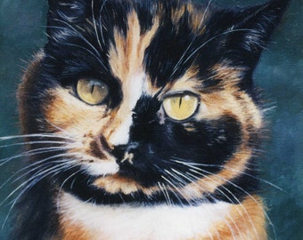 Cat painting custom portrait - oil painting on stretched canvas, from your photographs