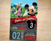 Mickey Mouse Birthday Invitation Chalkboard  - Mickey Mouse Invitation -Mickey Mouse Invite - DIGITAL