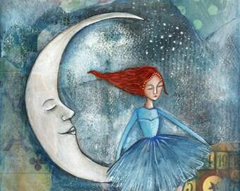 Moon dancer -art print