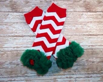 Holiday / Christmas Leg Warmers / Chevron Holiday Leg Warmers