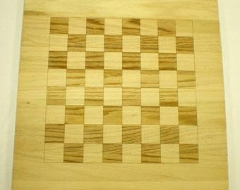 Chess/Checkers/Othello/Reversi Board - Oak