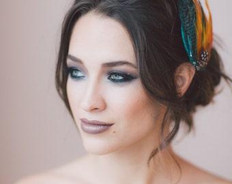 Juventas Headpiece. Fashion Headpiece,  Bridal Headband, Wedding Accessories, Bridal Headpiece