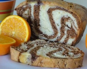 chocolate swirl pound cake, marble swirl pound cake, chocolate vanilla pound cake, chocolate orange pound cake, coffee cake