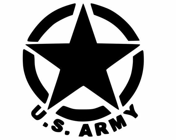 U S Army Oscar Mike Star Custom Vinyl Decal Yeti Cup Car