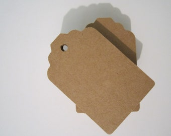 Brown Kraft Tags-Medium paper gift tags. Can be hole punched upon request. Gift tags, name tags, favor tags, birthday, price tags, etc.
