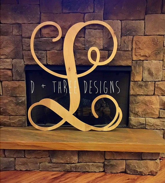 36 inch single monogram wooden letter wood monogram single for 36 inch wooden letters