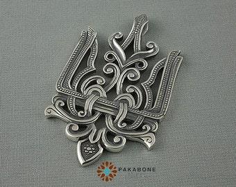 UkrainianTrident Tryzub Pendant Sterling Silver 000-398