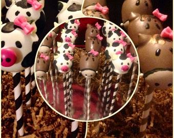 Cow Cake Pops! Horse Cake Pops! Farm Cake Pops! Barn Cake Pops! Zoo Cake Pops!