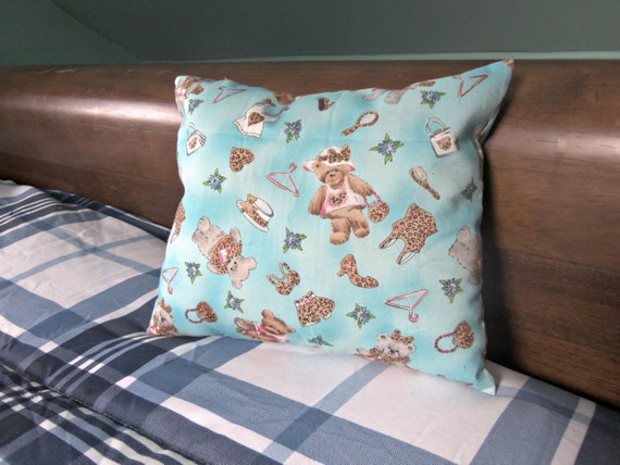 small throw pillow glamorous teddy bears by pillowsfornow