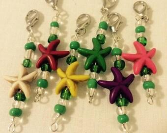 Starfish Crochet Stitch Markers- Set of 6*sale*
