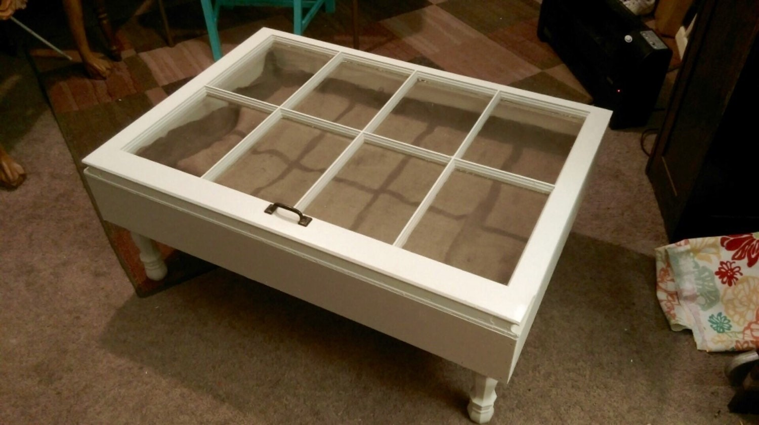 On Sale Shadow Box Coffee Table Reclaimed Windows Window