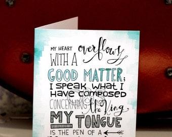 Psalm 45:1 Card