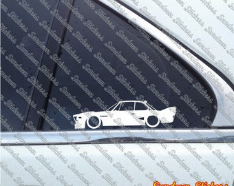 2X Low car outline stickers - for Classic BMW 3.0 CSL ( e9 ) race car