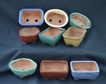 "Bonsai pot 5"" ceramic, (Pk only 1 pot not a set)"