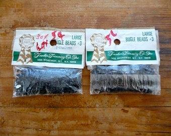 Vintage Black Bugle Beads