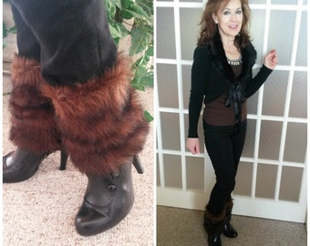 Faux Fur Leg Warmers/ Boot Cuffs/ Boot Toppers