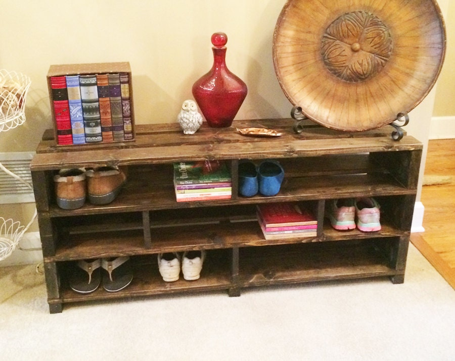 Handmade Shoe Storage Bench Shelving Shoe Rack Wood