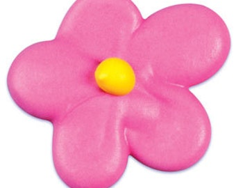 Royal Icing Flower Blossom Pink (10 Pieces)