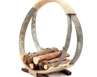The Barrel Hoop Firewood Rack