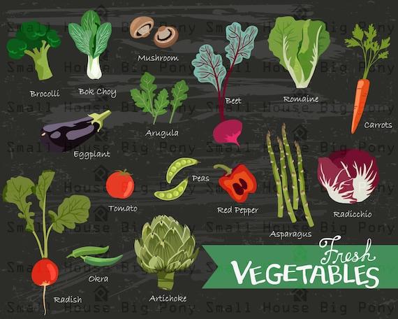 Fresh Vegetables, Kitchen digital elements,  kitchen poster, kitchen decor, art for kitchen, wall art, digital art, chalkboard art