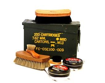 Ammo Can Shoe Shine Kit