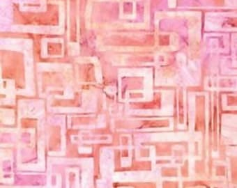 """End of Bolt Piece 35""""  Elementals 9414 - 97 Rose  Batik Robert Kaufman"""