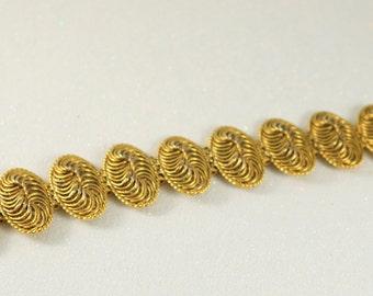 Large Chunky Gold Bracelet Vintage Bracelet Vintage Jewelry Statement Jewelry