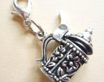 Charm, Charivari pendant, antique silver, 5 designs to select