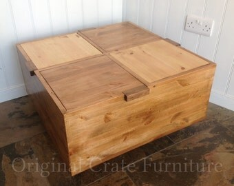 Coffee Table side or occasional table with 4 individual storage compartments