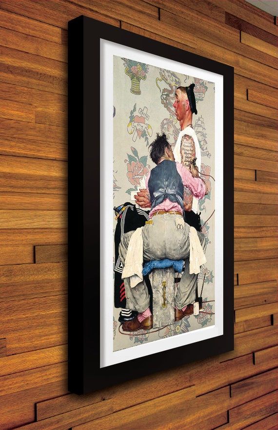 Norman rockwell tattoo artist replica print for Tattoo shops in norman