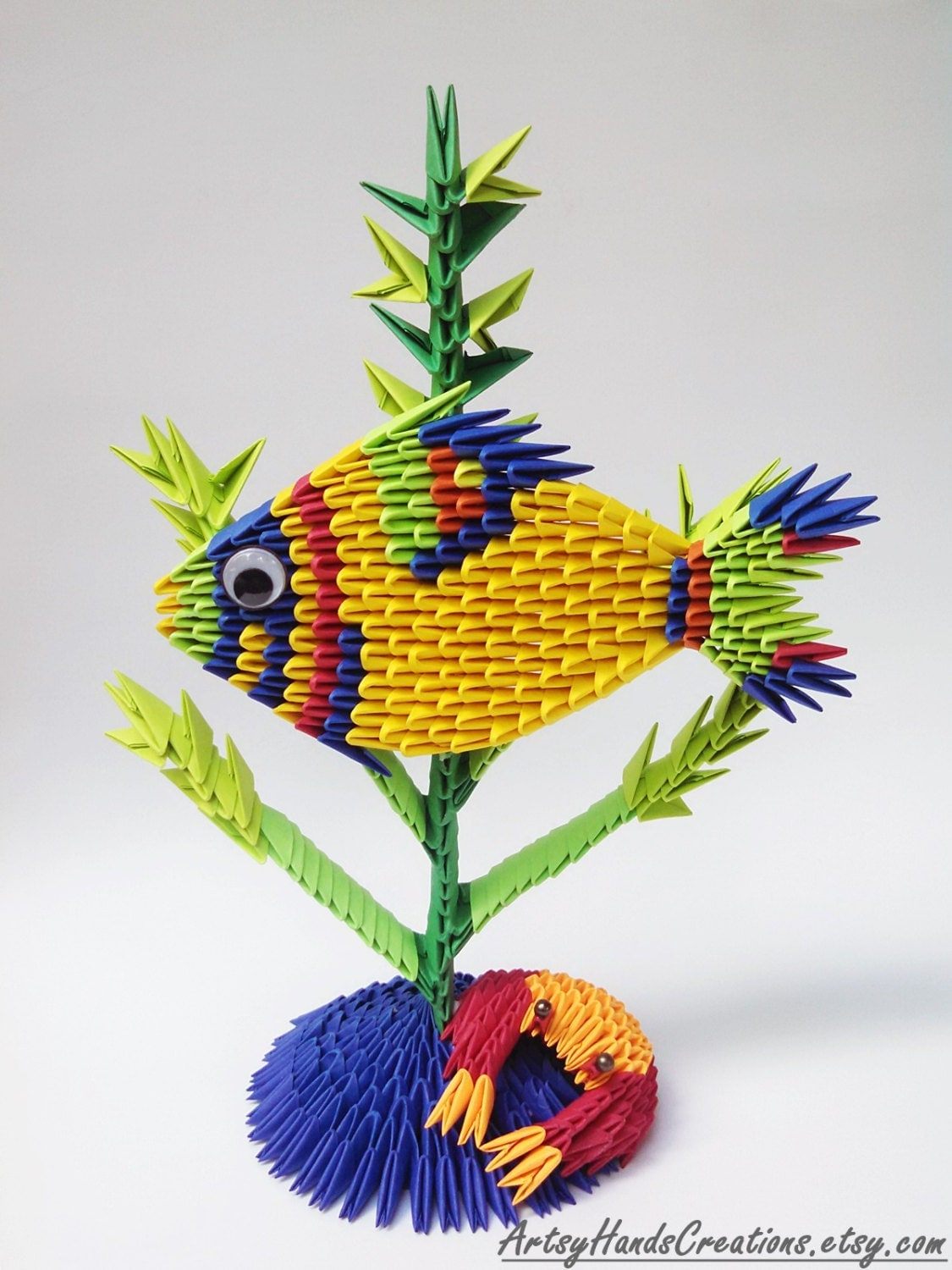 3d Origami Fish Paper Fish 3d Fish Origami by ... - photo#42