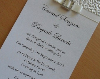 Ivory Pebble Invitation - Perfect for any occasion