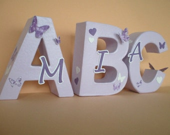 Individual lettering ABC to school, school, training, and first day of school