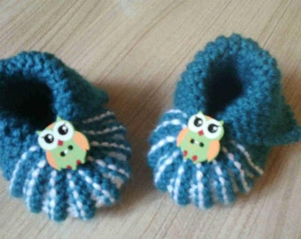 baby shoes knit hand size 0/3 months