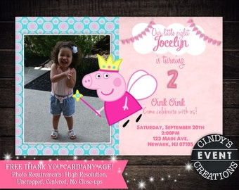 Peppa Pig Birthday Invitation - Printable Peppa Pig Invitation